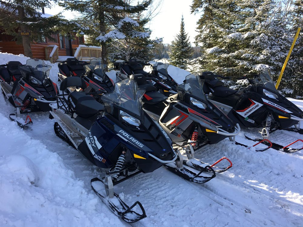 Gunflint Trail Snowmobile Rentals at Hungry Jack Lodge